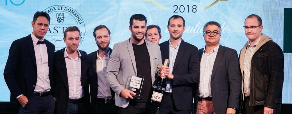 Les nominés, le gagnant, François Perret (lauréat 2017) et Frédéric Bau (valrhona) Photos ©Myphotoagency.com/ stanislas liban