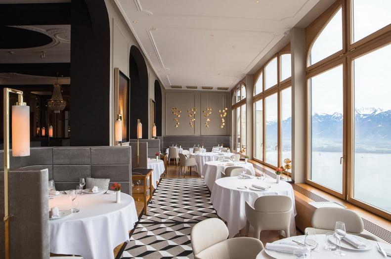 Salle du restaurant Le Bellevue. DR
